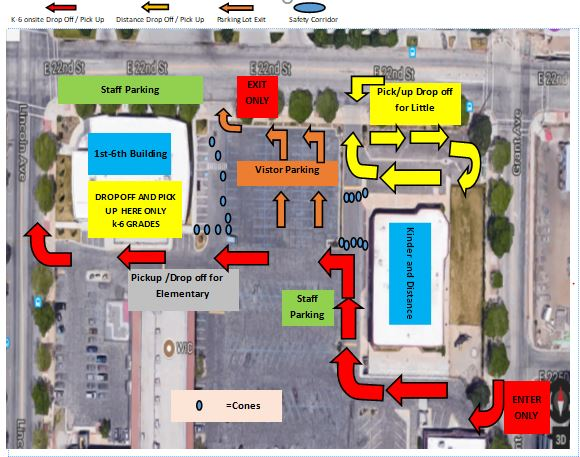 pick-up and dropoff map