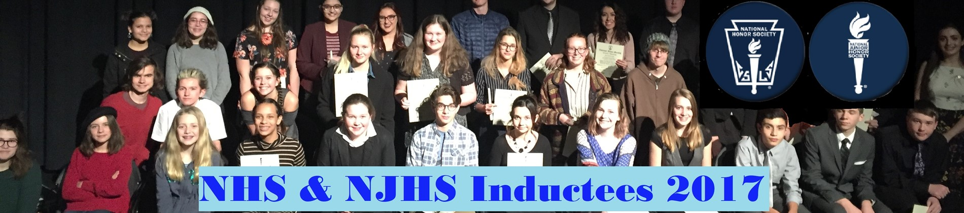 A big congratulations to our new members of National Honor Society and National Junior Honor Society!!