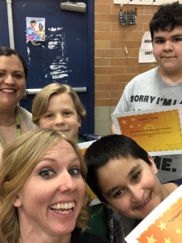 Unselfie award for March!